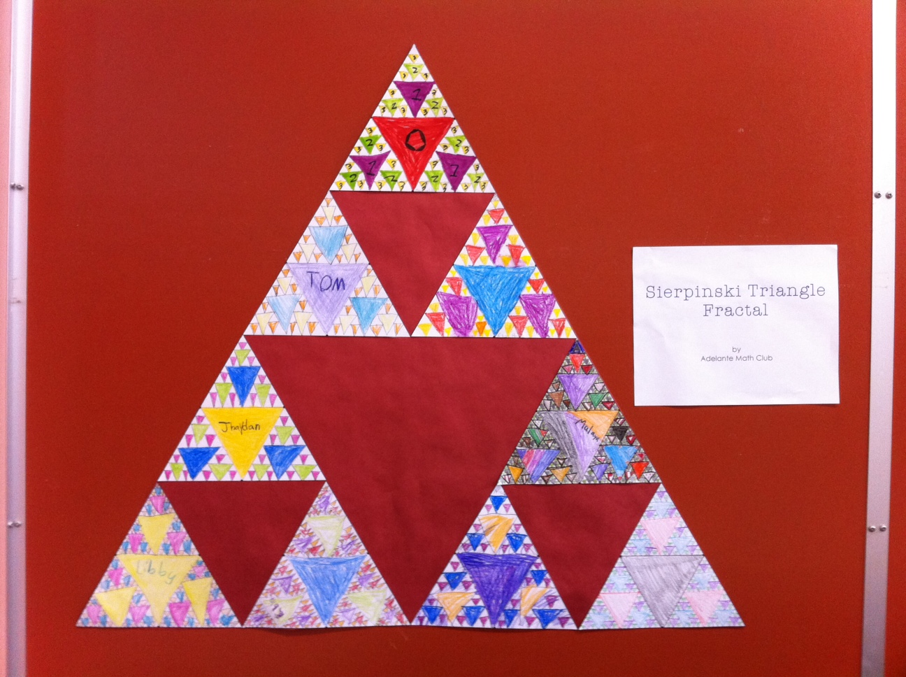 Worksheets Sierpinski Triangle Worksheet fractal education sierpinski triangle hollymath also you can blow their minds by showing this zoom video to show that the triangles go on forever